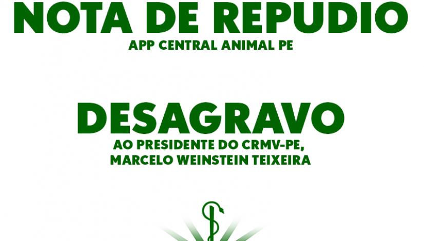 Nota oficial repudia aplicativo de castração gratuita e faz desagravo ao presidente do CRMV-PE