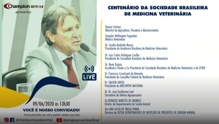 Live do centenário da Sociedade Brasileira de Medicina Veterinária