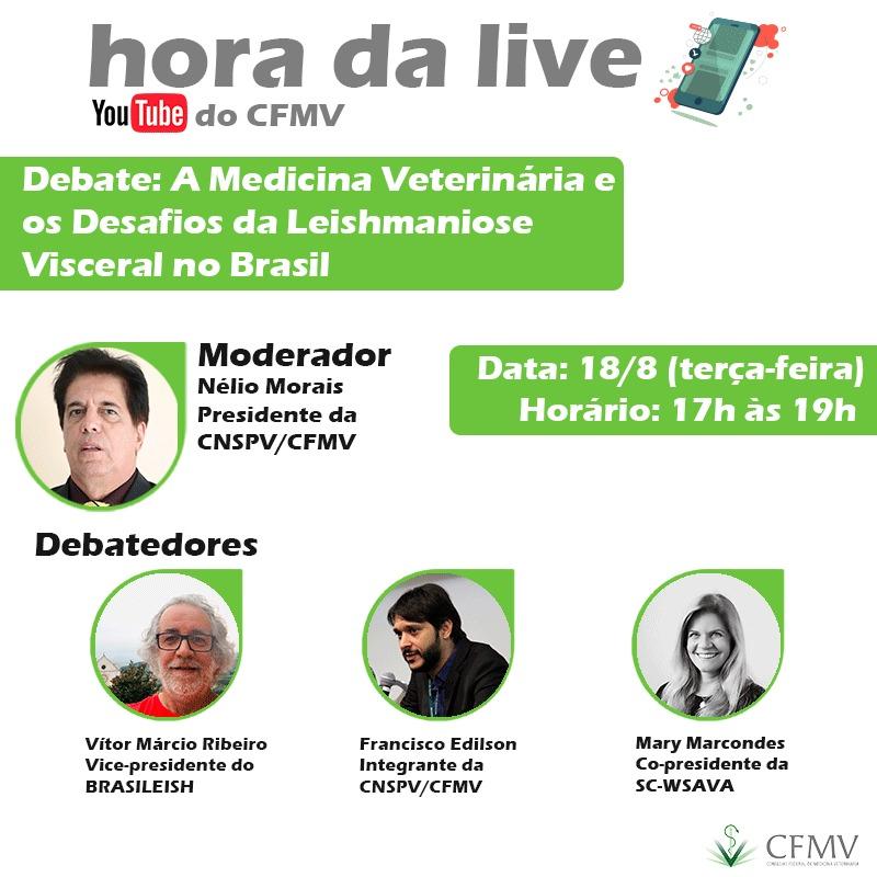 A Medicina Veterinária e os Desafios da Leishmaniose Visceral no Brasil é tema de debate ao vivo nas redes do CFMV