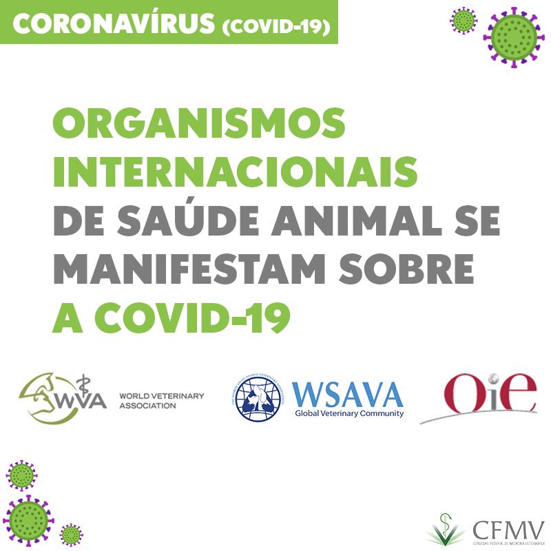 Organismos internacionais de saúde animal se manifestam sobre a Covid-19