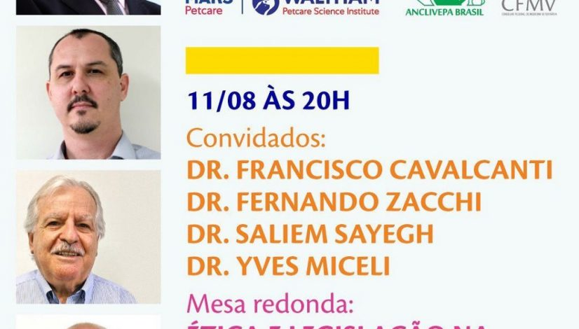 Ética e legislação na Medicina Veterinária de pequenos animais é tema de debate em 11 de agosto