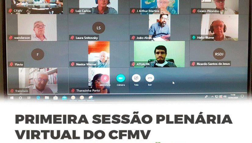 Primeira Sessão Plenária virtual do CFMV aprova resoluções emergenciais