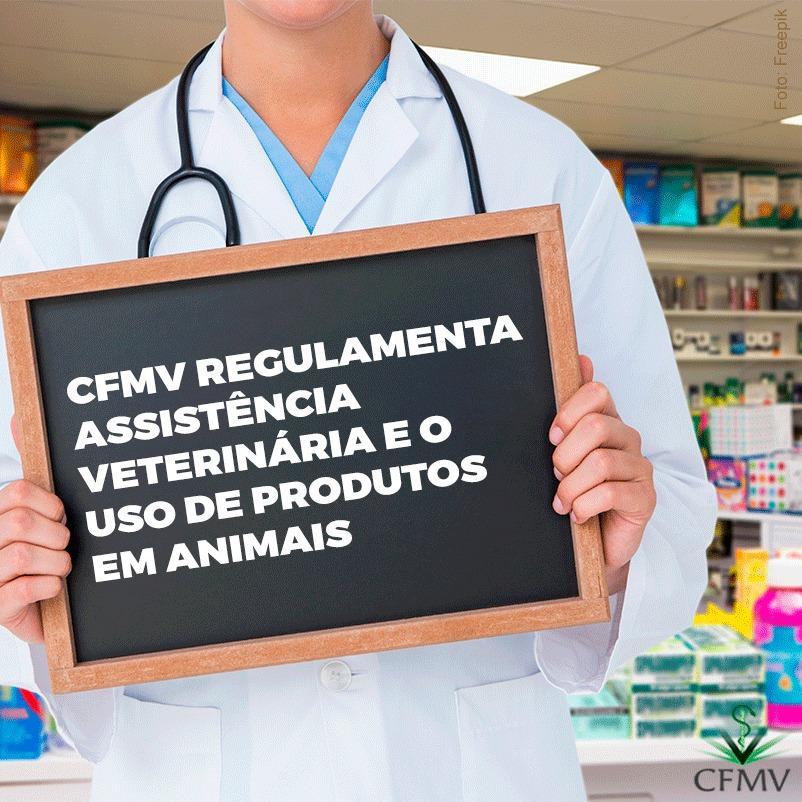 CFMV regulamenta assistência veterinária e o uso de produtos em animais