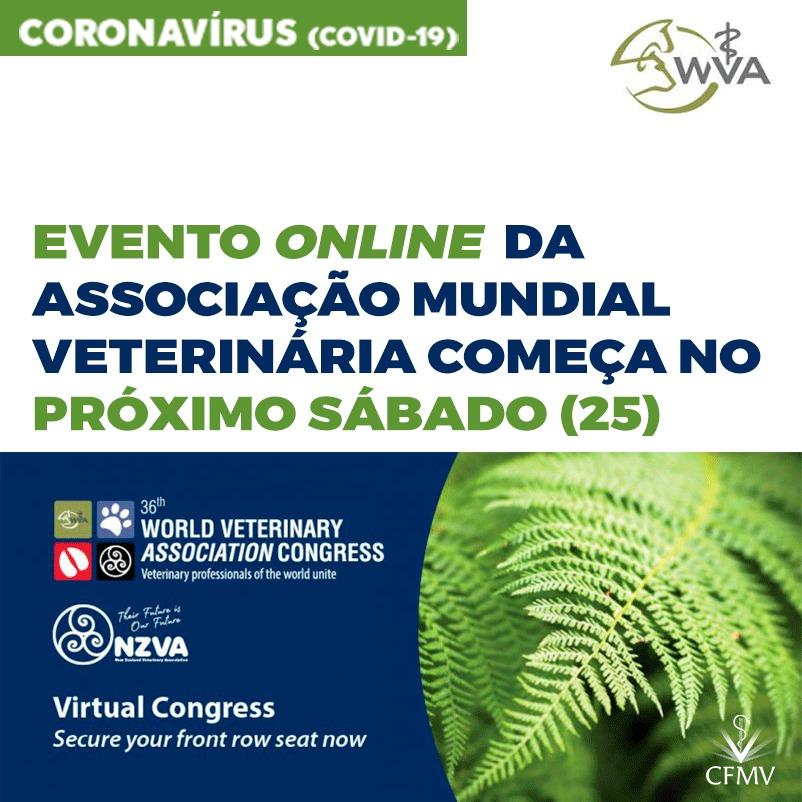 Evento online da Associação Mundial Veterinária