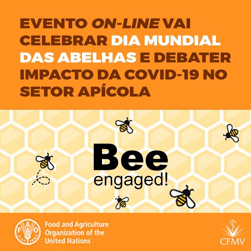 Evento on-line vai celebrar Dia Mundial das Abelhas e debater impacto da covid-19 no setor apícola