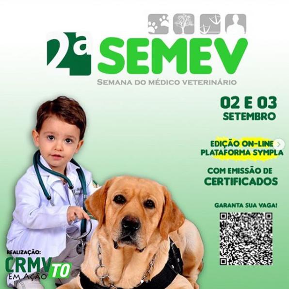 CRMV-TO prepara 2ª Semev para comemorar mês do médico-veterinário