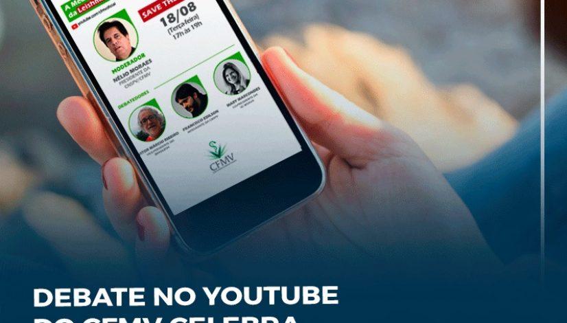 Debate no canal do CFMV no YouTube celebra Semana Nacional do Controle e Prevenção à Leishmaniose