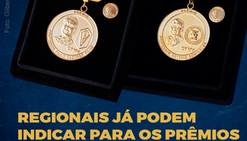 Regionais já podem fazer indicações aos prêmios Paulo Dacorso e Octávio Domingues