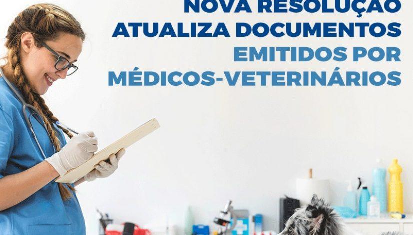 Nova resolução atualiza documentos emitidos por médicos-veterinários