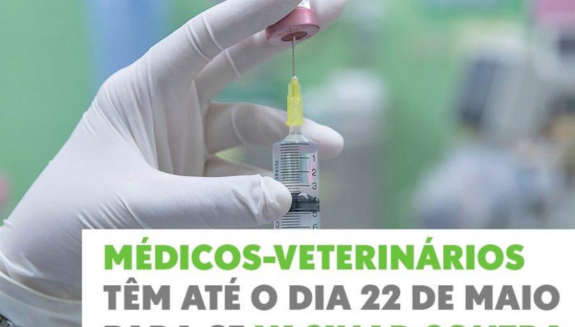 Médicos-veterinários têm até o dia 22 de maio para se vacinar contra a gripe