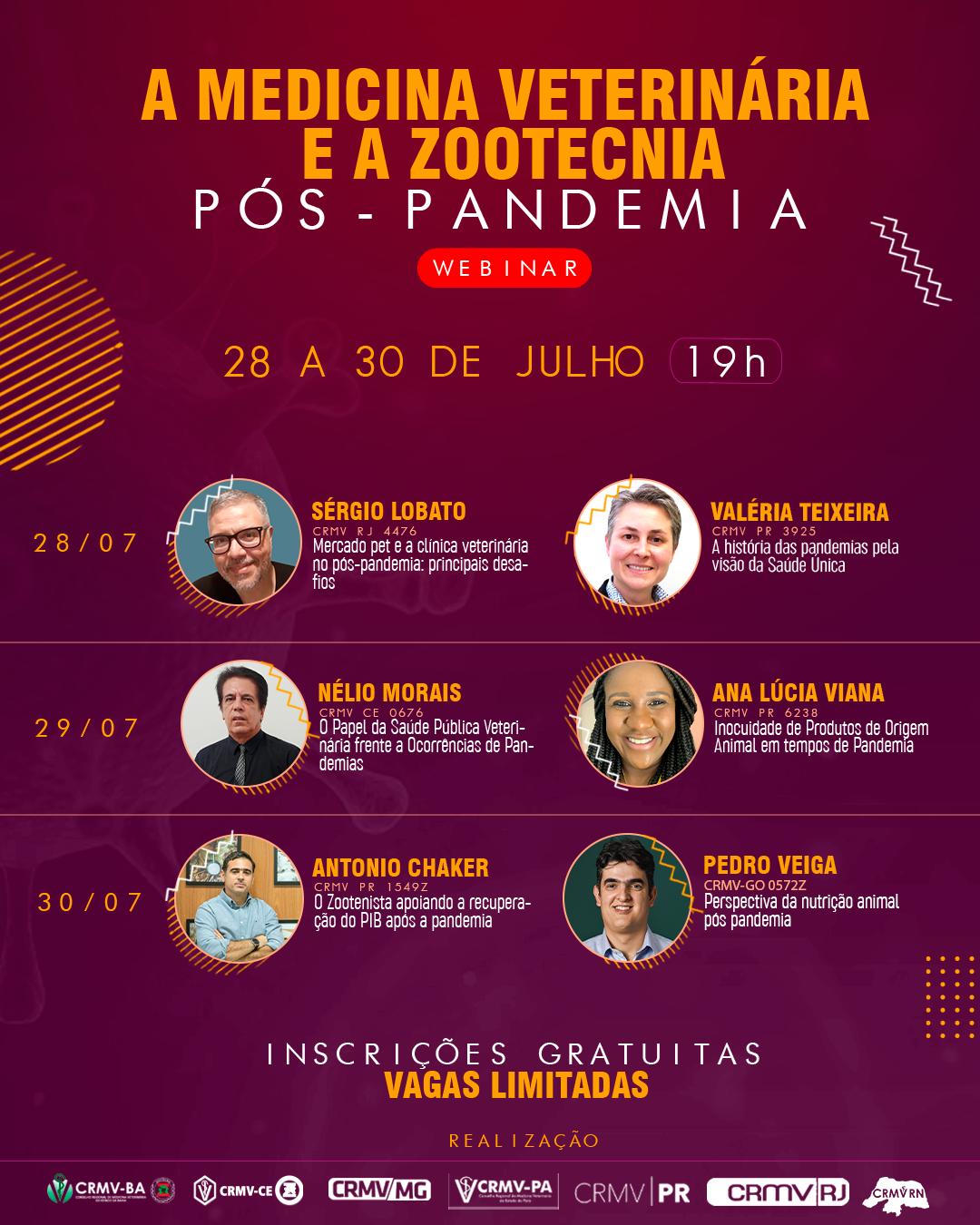 Webinar discute como será a Medicina Veterinária e a Zootecnia no futuro pós-pandemia
