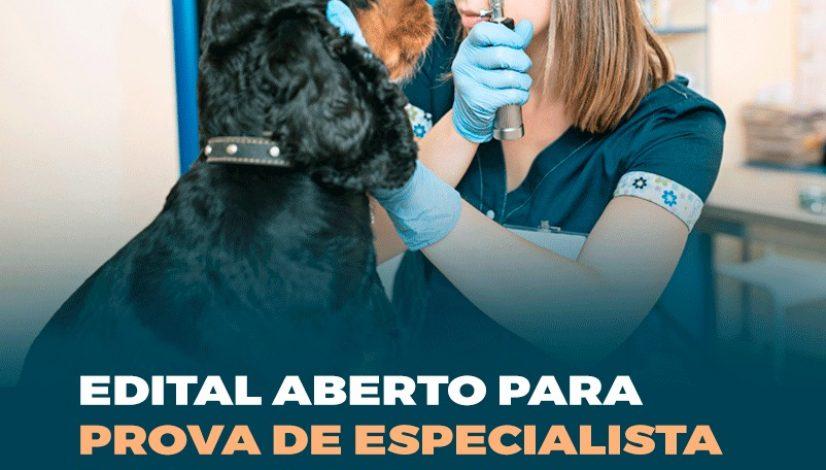 Edital aberto para prova de especialista em Oftalmologia Veterinária
