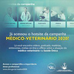 Post - Já acessou o hotsite da campanha do médico-veterinário 2020?