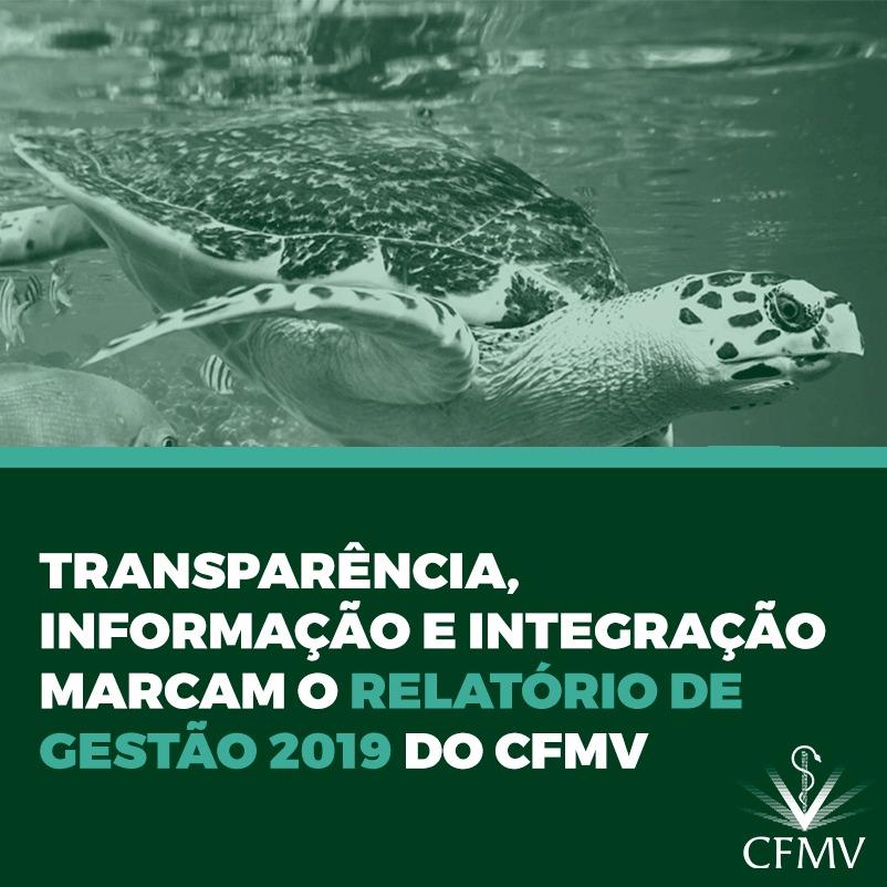 Transparência, informação e integração marcam o Relatório de Gestão 2019 do CFMV