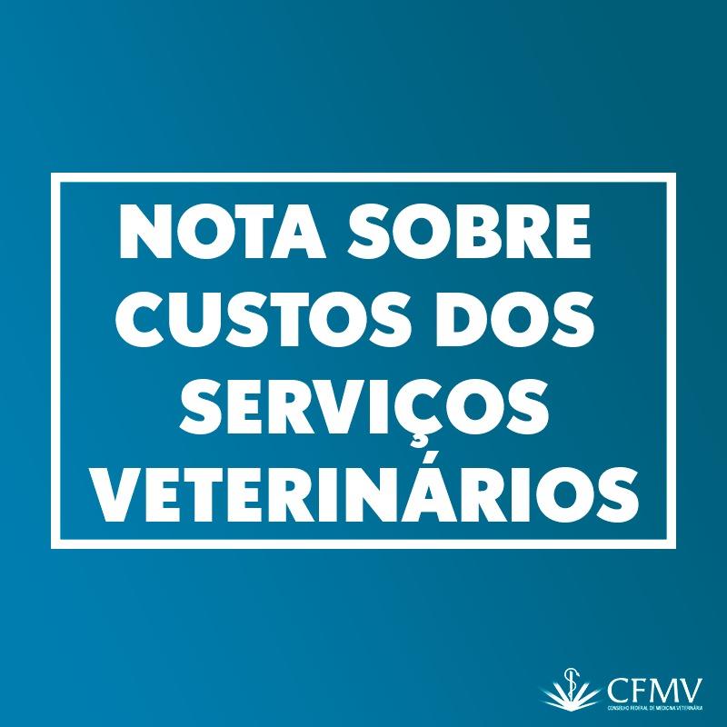 Nota sobre custos dos serviços veterinários
