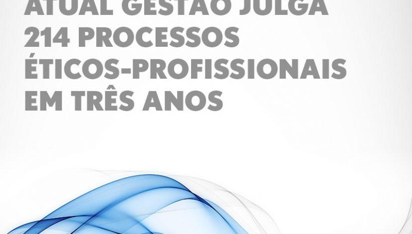 Atual gestão chega a 214 processos éticos-profissionais julgados em três anos durante a 100º sessão
