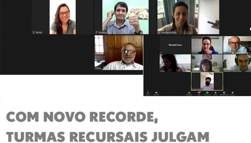 Com novo recorde, turmas recursais julgam 98 processos administrativos