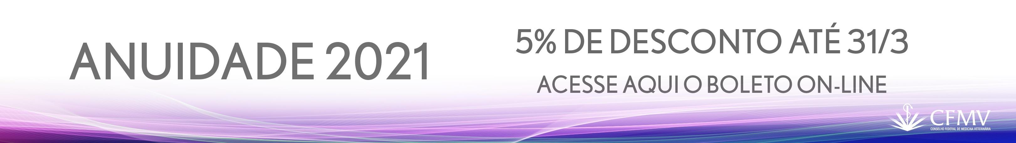 Anuidade com 5% de desconto