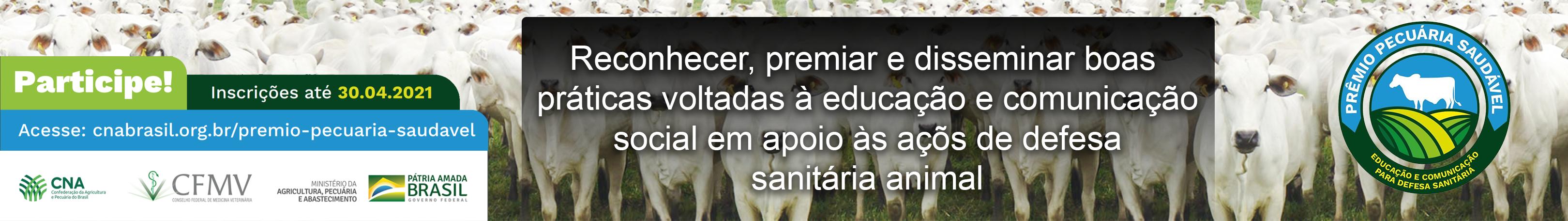 CNA lança Prêmio Pecuária Saudável