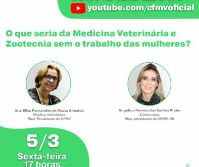 CFMV promove live em celebração ao Dia Internacional da Mulher