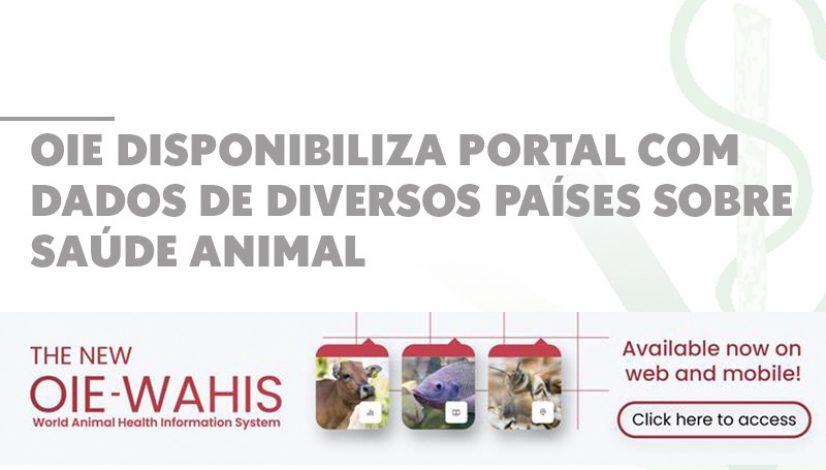 OIE disponibiliza portal com dados sobre a saúde animal em diversos países