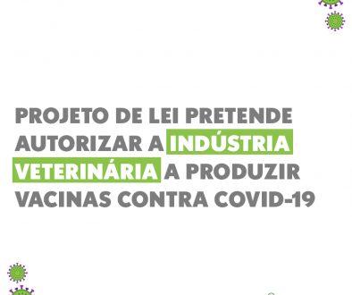 Projeto de lei pretende autorizar a indústria veterinária a produzir vacinas contra covid-19