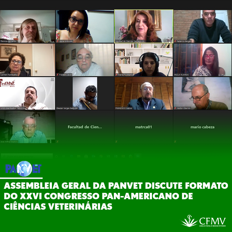 Assembleia Geral da Panvet discute formato do XXVI Congresso Pan-Americano de Ciências Veterinárias