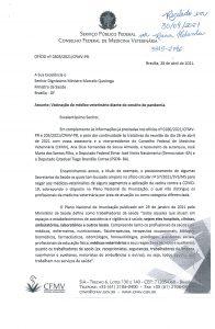 Ofício do CFMV ao Ministério da Saúde