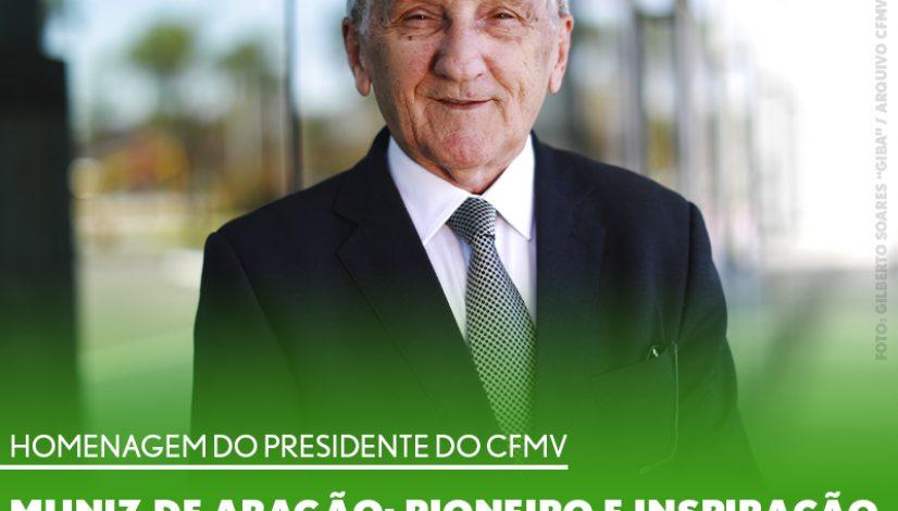 Homenagem do presidente - Muniz de Aragão: pioneiro e inspiração para o presente e futuro da Medicina Veterinária Militar