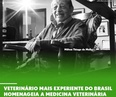 Veterinário mais experiente do Brasil homenageia a Medicina Veterinária Militar