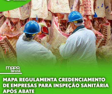 Mapa regulamenta credenciamento de empresas para inspeção sanitária após abate